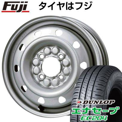 タイヤはフジ 送料無料 ELBE エルベ オリジナル スチール M52 4J 4.00-13 DUNLOP エナセーブ EC204 155/70R13 13インチ サマータイヤ ホイール4本セット