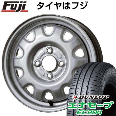 タイヤはフジ 送料無料 ELBE エルベ オリジナル スチール M73 4.5J 4.50-14 DUNLOP エナセーブ EC204 155/55R14 14インチ サマータイヤ ホイール4本セット