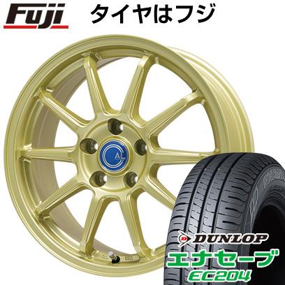 タイヤはフジ 送料無料 BRANDLE-LINE ブランドルライン カルッシャー ゴールド 6.5J 6.50-16 DUNLOP エナセーブ EC204 195/60R16 16インチ サマータイヤ ホイール4本セット