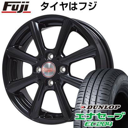タイヤはフジ 送料無料 PREMIX プレミックス ナナ(グロスブラック) 4.5J 4.50-14 DUNLOP エナセーブ EC204 155/65R14 14インチ サマータイヤ ホイール4本セット