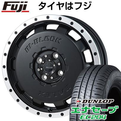 タイヤはフジ 送料無料 MONZA モンツァ HI-BLOCK バレックス 4.5J 4.50-15 DUNLOP エナセーブ EC204 165/60R15 15インチ サマータイヤ ホイール4本セット