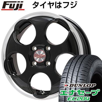 タイヤはフジ 送料無料 PREMIX プレミックス マル(ブラック/リムポリッシュ) 5J 5.00-16 DUNLOP エナセーブ EC204 165/50R16 16インチ サマータイヤ ホイール4本セット