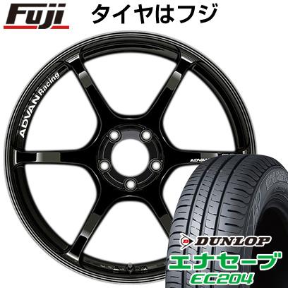 タイヤはフジ 送料無料 YOKOHAMA ヨコハマ アドバンレーシング RGIII 7.5J 7.50-17 DUNLOP エナセーブ EC204 215/45R17 17インチ サマータイヤ ホイール4本セット