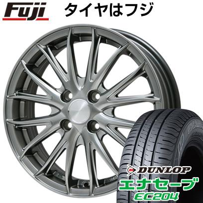 タイヤはフジ 送料無料 BRANDLE ブランドル 757 4.5J 4.50-15 DUNLOP エナセーブ EC204 165/60R15 15インチ サマータイヤ ホイール4本セット