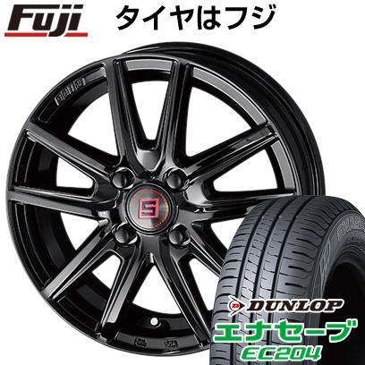 タイヤはフジ 送料無料 KYOHO 共豊 キョウホウ ザインSS ブラックエディション 5.5J 5.50-15 DUNLOP エナセーブ EC204 185/65R15 15インチ サマータイヤ ホイール4本セット