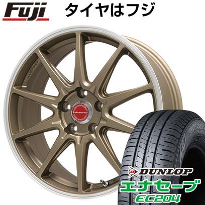 タイヤはフジ 送料無料 LEHRMEISTER レアマイスター LMスポーツRS10(マットブロンズリムポリッシュ) 7J 7.00-16 DUNLOP エナセーブ EC204 205/55R16 16インチ サマータイヤ ホイール4本セット