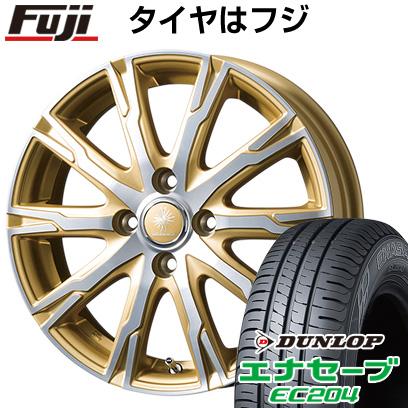 タイヤはフジ 送料無料 TOPY トピー ディルーチェ DX10 4.5J 4.50-15 DUNLOP エナセーブ EC204 165/50R15 15インチ サマータイヤ ホイール4本セット