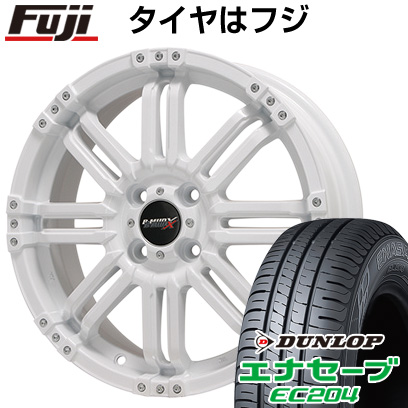 タイヤはフジ 送料無料 BIGWAY ビッグウエイ B-MUD X(ホワイト) 5.5J 5.50-16 DUNLOP エナセーブ EC204 175/60R16 16インチ サマータイヤ ホイール4本セット