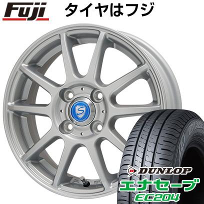 タイヤはフジ 送料無料 BRANDLE ブランドル 302 4.5J 4.50-15 DUNLOP エナセーブ EC204 165/50R15 15インチ サマータイヤ ホイール4本セット