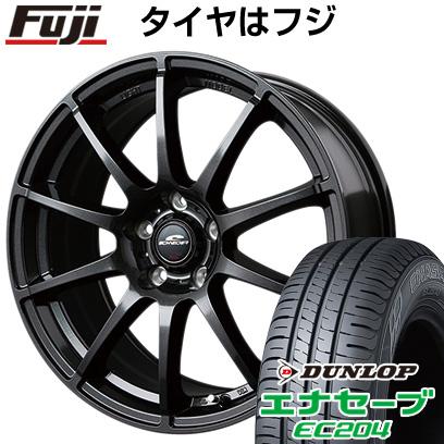タイヤはフジ 送料無料 MID シュナイダー スタッグ 5.5J 5.50-14 DUNLOP エナセーブ EC204 185/70R14 14インチ サマータイヤ ホイール4本セット