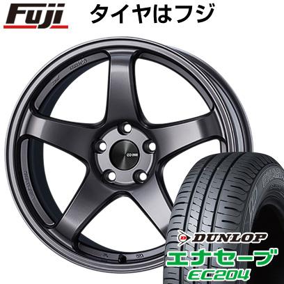 タイヤはフジ 送料無料 ENKEI エンケイ PF05 7.5J 7.50-18 DUNLOP エナセーブ EC204 215/50R18 18インチ サマータイヤ ホイール4本セット