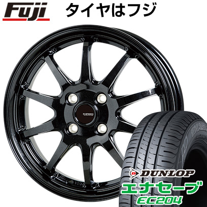 タイヤはフジ 送料無料 HOT STUFF ホットスタッフ ジースピード G-04 4.5J 4.50-14 DUNLOP エナセーブ EC204 155/65R14 14インチ サマータイヤ ホイール4本セット
