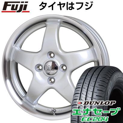 タイヤはフジ 送料無料 HOT STUFF ホットスタッフ ララパーム スター 4.5J 4.50-15 DUNLOP エナセーブ EC204 165/60R15 15インチ サマータイヤ ホイール4本セット