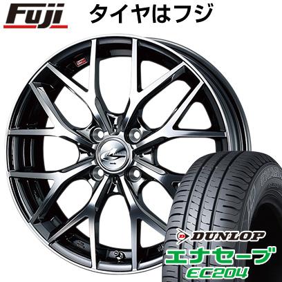 タイヤはフジ 送料無料 WEDS ウェッズ レオニス MX 6J 6.00-16 DUNLOP エナセーブ EC204 185/55R16 16インチ サマータイヤ ホイール4本セット