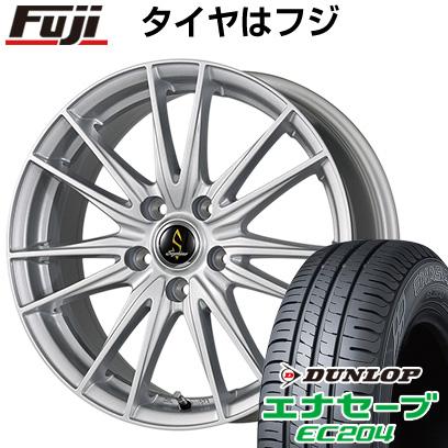 タイヤはフジ 送料無料 WORK ワーク セプティモ G02 シルバーメタリック 7J 7.00-17 DUNLOP エナセーブ EC204 215/55R17 17インチ サマータイヤ ホイール4本セット