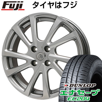 タイヤはフジ 送料無料 BRANDLE ブランドル E04 4.5J 4.50-14 DUNLOP エナセーブ EC204 165/55R14 14インチ サマータイヤ ホイール4本セット