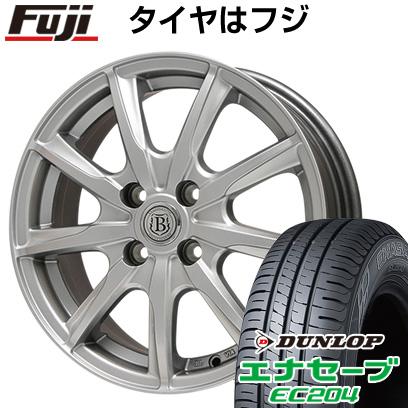 タイヤはフジ 送料無料 BRANDLE ブランドル E05 4.5J 4.50-14 DUNLOP エナセーブ EC204 155/65R14 14インチ サマータイヤ ホイール4本セット