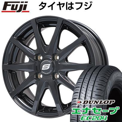タイヤはフジ 送料無料 BRANDLE ブランドル M71B 5.5J 5.50-14 DUNLOP エナセーブ EC204 165/70R14 14インチ サマータイヤ ホイール4本セット