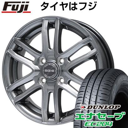 タイヤはフジ 送料無料 BRANDLE ブランドル G61 4J 4.00-13 DUNLOP エナセーブ EC204 145/80R13 13インチ サマータイヤ ホイール4本セット