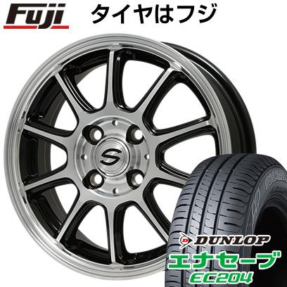 タイヤはフジ 送料無料 BRANDLE ブランドル Z01B 4J 4.00-13 DUNLOP エナセーブ EC204 165/65R13 13インチ サマータイヤ ホイール4本セット