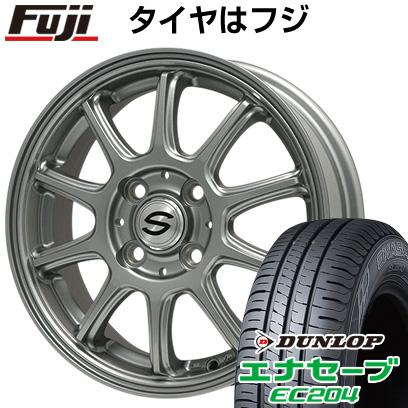 タイヤはフジ 送料無料 BRANDLE ブランドル Z01 4J 4.00-13 DUNLOP エナセーブ EC204 155/70R13 13インチ サマータイヤ ホイール4本セット
