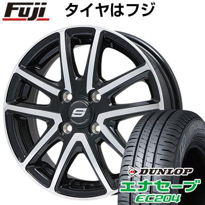 タイヤはフジ 送料無料 BRANDLE ブランドル M61BP 4J 4.00-13 DUNLOP エナセーブ EC204 155/65R13 13インチ サマータイヤ ホイール4本セット