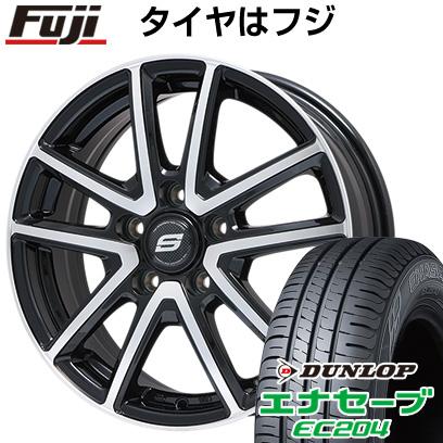 タイヤはフジ 送料無料 BRANDLE ブランドル M61BP 7J 7.00-17 DUNLOP エナセーブ EC204 205/50R17 17インチ サマータイヤ ホイール4本セット
