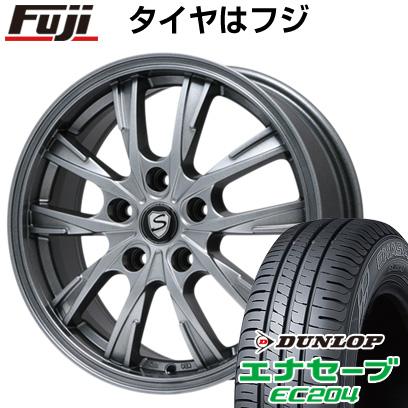 タイヤはフジ 送料無料 BRANDLE ブランドル 486 6.5J 6.50-16 DUNLOP エナセーブ EC204 215/60R16 16インチ サマータイヤ ホイール4本セット