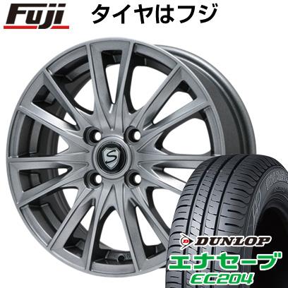 タイヤはフジ 送料無料 BRANDLE ブランドル 485 5.5J 5.50-14 DUNLOP エナセーブ EC204 165/65R14 14インチ サマータイヤ ホイール4本セット