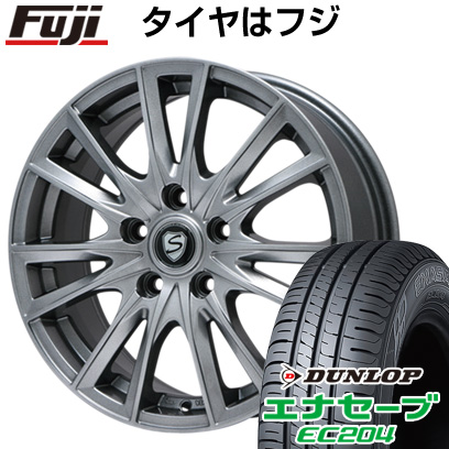 タイヤはフジ 送料無料 BRANDLE ブランドル 485 6.5J 6.50-16 DUNLOP エナセーブ EC204 195/60R16 16インチ サマータイヤ ホイール4本セット