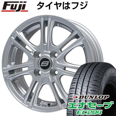 タイヤはフジ 送料無料 BRANDLE ブランドル M68 4J 4.00-13 DUNLOP エナセーブ EC204 155/70R13 13インチ サマータイヤ ホイール4本セット