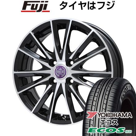 タイヤはフジ 送料無料 LEHRMEISTER レアマイスター ソライアV7 4.5J 4.50-14 YOKOHAMA エコス ES31 155/65R14 14インチ サマータイヤ ホイール4本セット