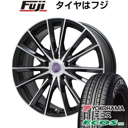 タイヤはフジ 送料無料 LEHRMEISTER レアマイスター ソライアV7 7.5J 7.50-18 YOKOHAMA エコス ES31 215/45R18 18インチ サマータイヤ ホイール4本セット