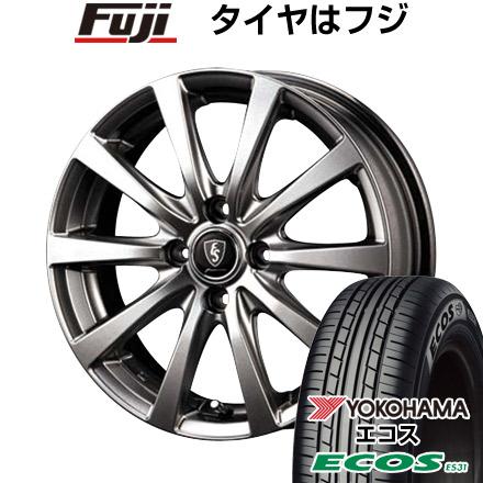 タイヤはフジ 送料無料 MID ユーロスピード G10 5.5J 5.50-14 YOKOHAMA エコス ES31 165/70R14 14インチ サマータイヤ ホイール4本セット