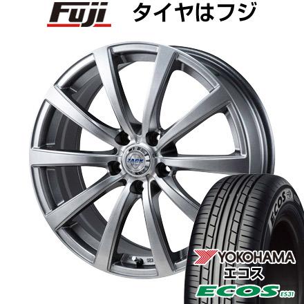タイヤはフジ 送料無料 MONZA モンツァ ZACK JP-110 10スポーク 7J 7.00-17 YOKOHAMA エコス ES31 215/50R17 17インチ サマータイヤ ホイール4本セット