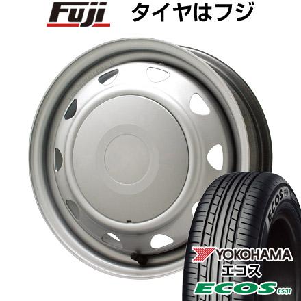 タイヤはフジ 送料無料 ELBE エルベ オリジナル スチール 4J 4.00-13 YOKOHAMA エコス ES31 165/65R13 13インチ サマータイヤ ホイール4本セット