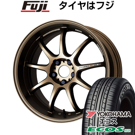 タイヤはフジ 送料無料 WORK ワーク エモーション D9R 7J 7.00-17 YOKOHAMA エコス ES31 225/55R17 17インチ サマータイヤ ホイール4本セット