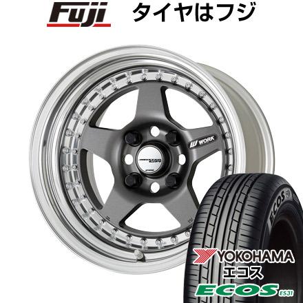 史上一番安い タイヤはフジ 送料無料 WORK ワーク マイスター CR01 7J 7.00-16 YOKOHAMA エコス ES31 205/55R16 16インチ サマータイヤ ホイール4本セット, エサシグン 7692c93b