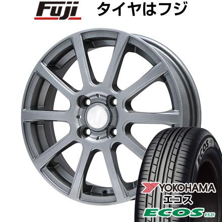 タイヤはフジ 送料無料 BRANDLE ブランドル 565T 4.5J 4.50-14 YOKOHAMA エコス ES31 165/55R14 14インチ サマータイヤ ホイール4本セット