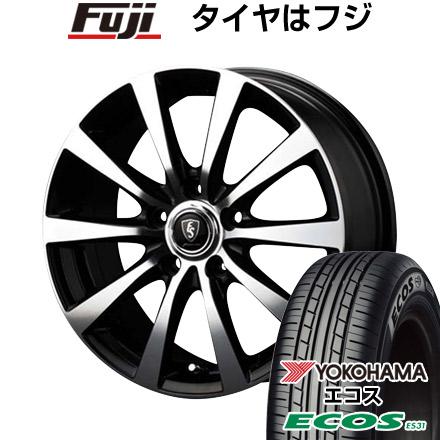 タイヤはフジ 送料無料 MID ユーロスピード BL-10 6.5J 6.50-16 YOKOHAMA エコス ES31 215/65R16 16インチ サマータイヤ ホイール4本セット