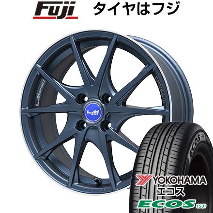 タイヤはフジ 送料無料 ソリオ(MA36S) LEHRMEISTER レアマイスター LMスポーツクロス10 マットブルー 5J 5.00-15 YOKOHAMA エコス ES31 165/65R15 15インチ サマータイヤ ホイール4本セット