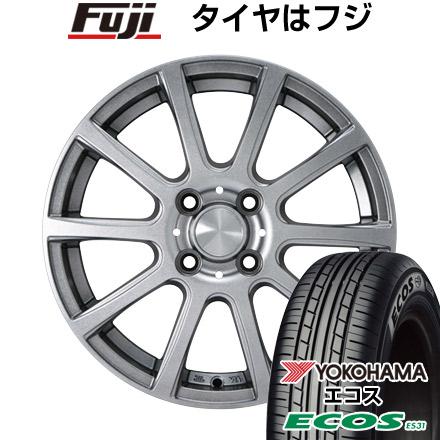 タイヤはフジ 送料無料 カジュアルセット タイプB17 メタリックグレー 4.5J 4.50-14 YOKOHAMA エコス ES31 165/60R14 14インチ サマータイヤ ホイール4本セット