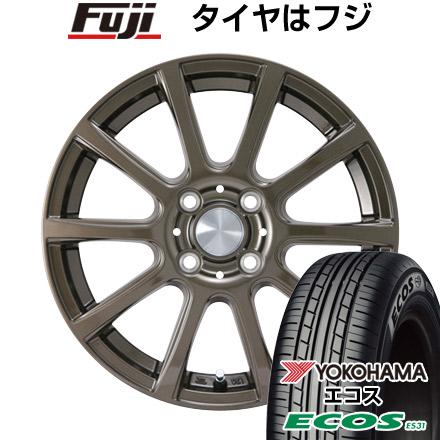 タイヤはフジ 送料無料 カジュアルセット タイプB17 ブロンズ 4.5J 4.50-14 YOKOHAMA エコス ES31 155/65R14 14インチ サマータイヤ ホイール4本セット