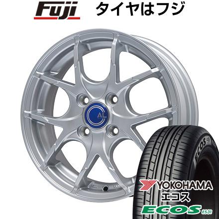 タイヤはフジ 送料無料 BRANDLE-LINE ブランドルライン カルデス メタリックシルバー 5.5J 5.50-14 YOKOHAMA エコス ES31 165/70R14 14インチ サマータイヤ ホイール4本セット