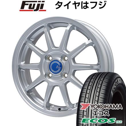 タイヤはフジ 送料無料 BRANDLE ブランドル M60 4.5J 4.50-14 YOKOHAMA エコス ES31 165/65R14 14インチ サマータイヤ ホイール4本セット