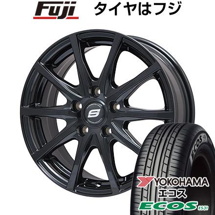 タイヤはフジ 送料無料 BRANDLE ブランドル M71B 7J 7.00-17 YOKOHAMA エコス ES31 215/45R17 17インチ サマータイヤ ホイール4本セット