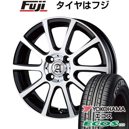 タイヤはフジ 送料無料 TECHNOPIA テクノピア アドニス ISR 5.5J 5.50-14 YOKOHAMA エコス ES31 175/65R14 14インチ サマータイヤ ホイール4本セット