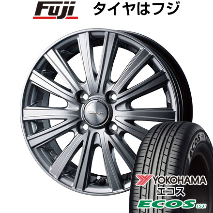タイヤはフジ 送料無料 WEDS ウェッズ ヴェルバ テサリア限定 5.5J 5.50-14 YOKOHAMA エコス ES31 175/70R14 14インチ サマータイヤ ホイール4本セット