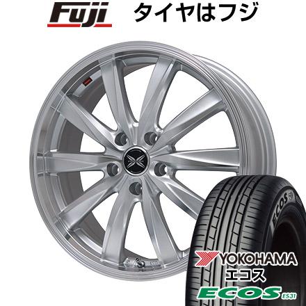 タイヤはフジ 送料無料 PREMIX プレミックス ルマーニュ(シルバーポリッシュ) 7J 7.00-16 YOKOHAMA エコス ES31 215/65R16 16インチ サマータイヤ ホイール4本セット