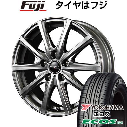 タイヤはフジ 送料無料 MID ユーロスピード V25 6.5J 6.50-16 YOKOHAMA エコス ES31 215/65R16 16インチ サマータイヤ ホイール4本セット